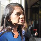 Gina Miller outside the Supreme Court in London where judges are due to consider legal challenges to Prime Minister Boris Johnson's decision to suspend Parliament.