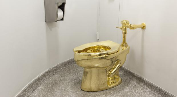 The solid gold toilet, which has been stolen from Blenheim Palace (Jacopo Zotti (Guggenheim Museum/PA)