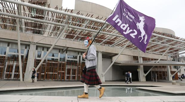 Independence supporters want a second vote on Scotland's place in the UK (Andrew Milligan/PA)