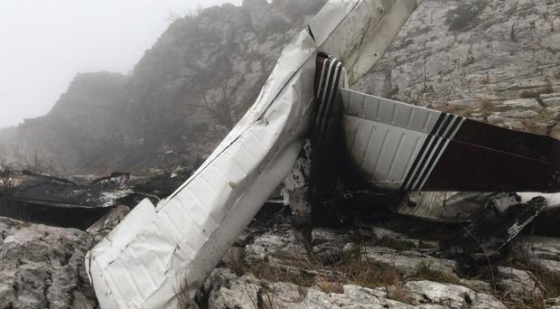 The scene of the crash in northern Spain (handout/PA)