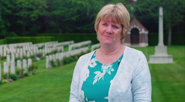 Anne Marie Williams at the Brunssum cemetery (CWGC/PA)