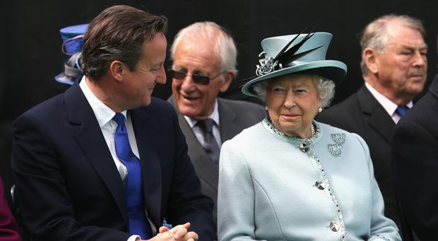 David Cameron with the Queen (Chris Jackson/PA)