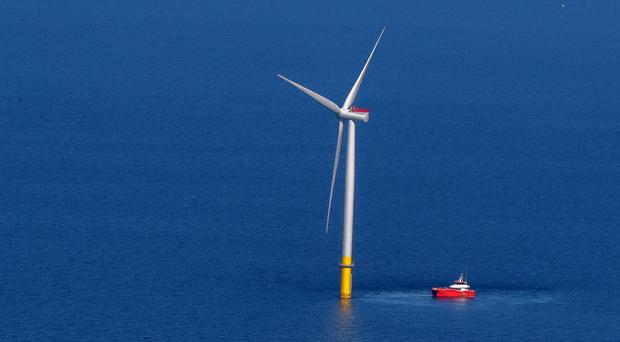 Offshore wind prices have fallen to new record lows (Peter Byrne/PA)