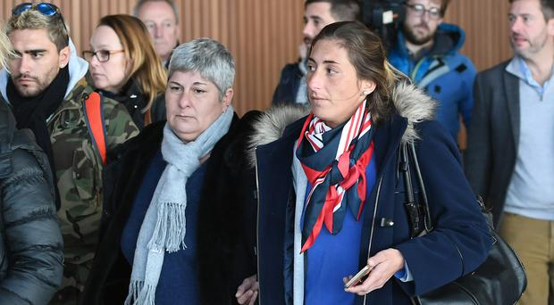Emiliano Sala's mother Mercedes, left, and sister Romina (Joe Giddens/PA)