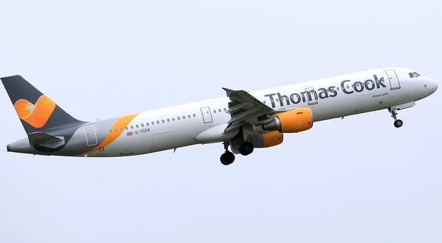 Thomas Cook reassured worried customers on Sunday that their flights continue to operate as normal (Tim Goode/PA)
