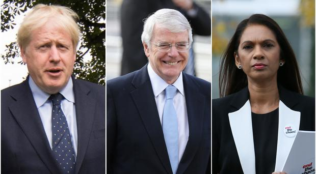 Boris Johnson, Sir John Major and Gina Miller, key players in the case which was heard in the Supreme Court (Stefan Rousseau/Yui Mok/ Brian Lawless/PA)