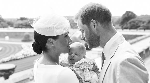 The Duke and Duchess with their son, Archie Harrison Mountbatten-Windsor (Chris Allerton/SussexRoyal/PA)