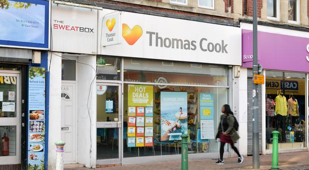 A closed Thomas Cook shop in Bristol (Ben Birchall/PA)