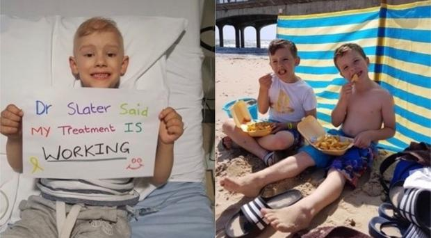Connor was given the all-clear from cancer in November 2018 (Katie Butler)