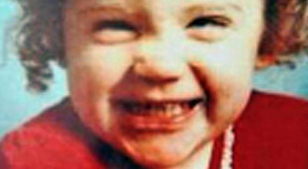 Katrice Lee before she went missing on her second birthday (Johnny Green/Missing People/PA)