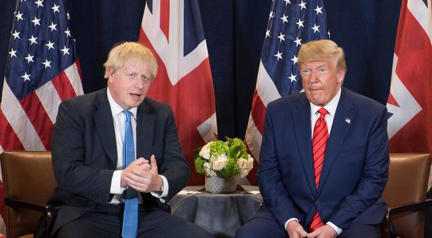 Prime Minister Boris Johnson meets US President Donald Trump at the 74th Session of the UN General Assembly (PA)