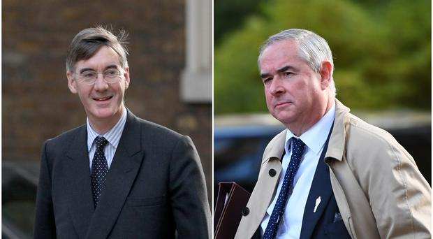 Jacob Rees Mogg and Geoffrey Cox