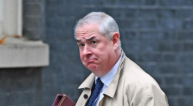 Attorney General Geoffrey Cox arrives for a cabinet meeting at 10 Downing Street, London (Victoria Jones/PA)