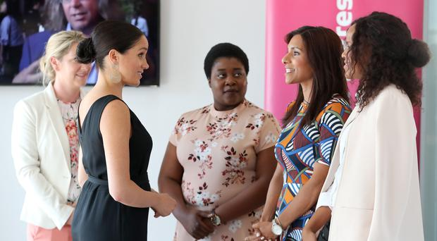 The Duchess of Sussex during a visit to the Woodstock Exchange in Cape Town (Chris Jackson/PA)