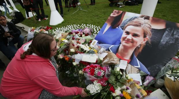 The PM has been criticised for invoking the memory of slain MP Jo Cox (Yui Mok/PA)