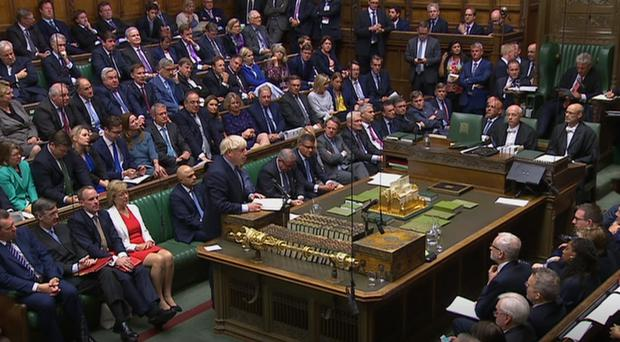 Boris Johnson speaks in the House of Commons (House of Commons/PA)