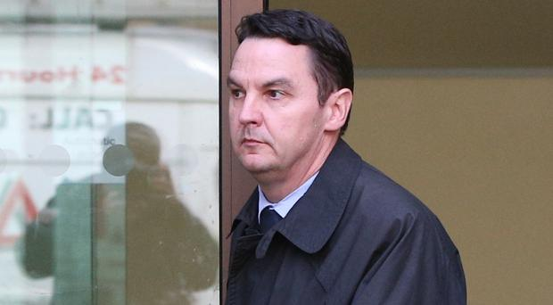 Daren Timpson-Hunt leaves Westminster Magistrates' Court (Jonathan Brady/PA)