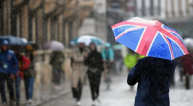 Twenty-five flood alerts, which warn people to be prepared for possible flooding, were issued for England (Joe Giddens/PA)