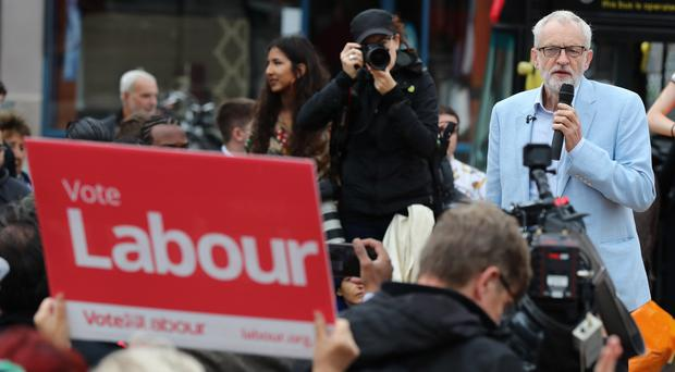 Labour leader Jeremy Corbyn speaking during a visit to Chingford (Gareth Fuller/PA)