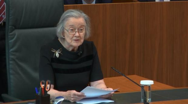 Lady Hale delivered the ruling on the legality of Boris Johnson's decision to suspend Parliament for five weeks (Supreme Court/PA)