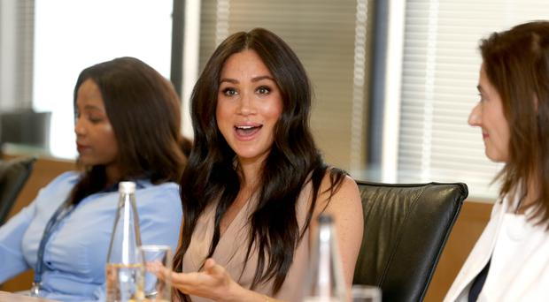 The Duchess of Sussex visiting the University of Johannesburg in South Africa (Ian Vogler/Daily Mirror/PA)