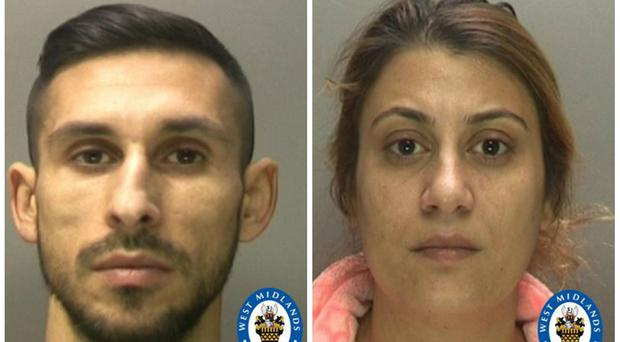 Husband and wife thieves Catalin Zaharia and Florina Spiru (West Midlands Police/PA)