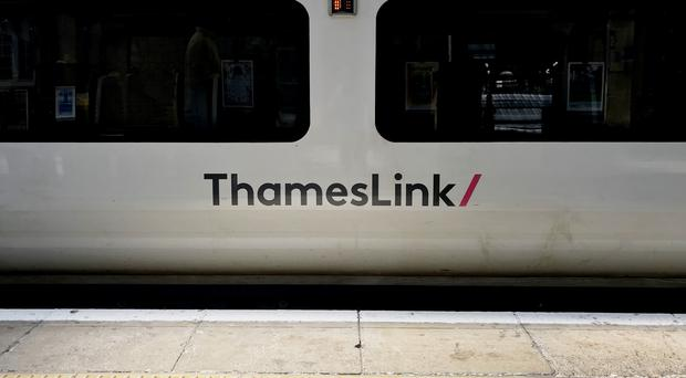 Thameslink train at Kings Cross station in London (Jonathan Brady/PA)