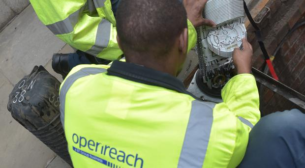 Openreach maintains the telephone cables, ducts, cabinets and exchanges around the country (Nick Ansell/PA)