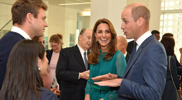 The Duke and Duchess of Cambridge at the Aga Khan centre in central London (Jeff Spicer/PA)