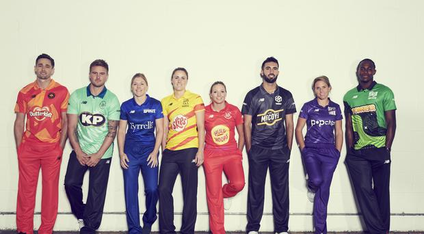 Each team in The Hundred contest will wear shirts featuring a different KP Snacks brand (ECB/PA)