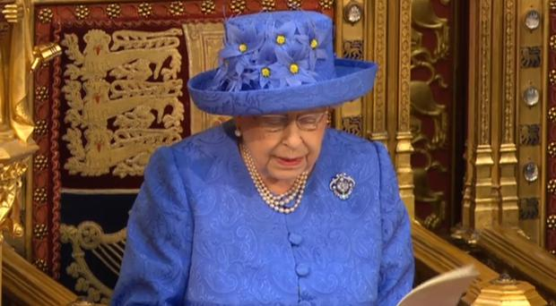 The Queen reading the Queen's Speech in the House of Lords (PA)