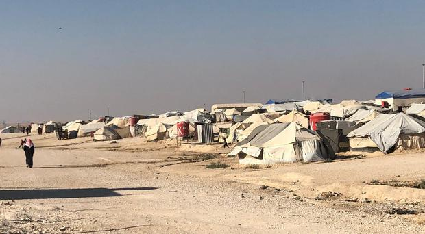 The Al-Hawl refugee camp in Syria (Crispin Blunt/PA)