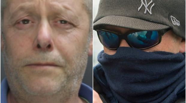 Edward Putman had covered his face outside court (Hertfordshire Police/Steve Parsons/PA)