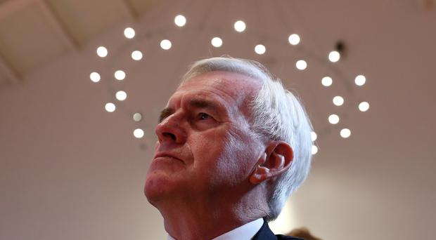 Shadow chancellor John McDonnell addressed an event in Colchester, Essex (Andrew Milligan/PA)