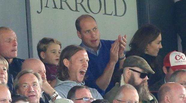 The royals enjoying the game (pic via Twitter feed of Aston Villa)