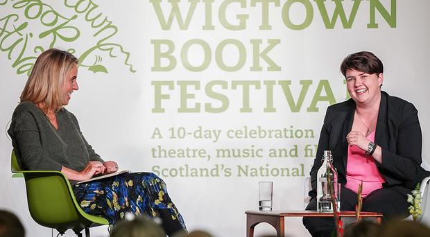 Ruth Davidson talked to journalist Sarah Smith at the Wigtown Book Festival (Ruari Barber-Fleming)