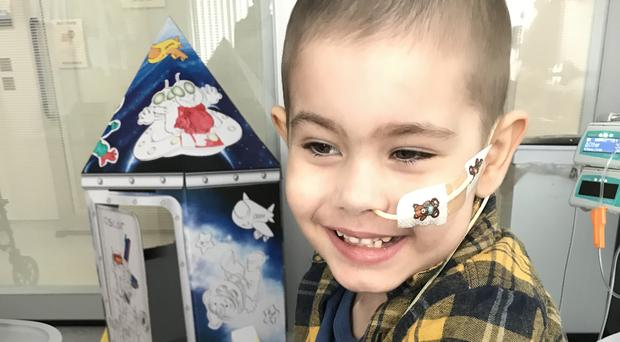Oscar's parents launched an appeal to raise £500,000 to fund treatment for their son (Family handout/PA)