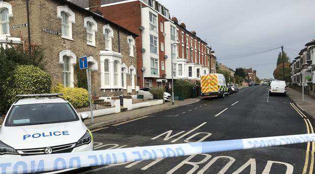 Police activity at the scene in Colchester (Sam Russell/PA)