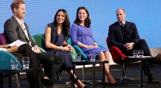 Prince Harry, Meghan Markle and the Duchess and Duke of Cambridge during the first Royal Foundation Forum (Chris Jackson/PA)
