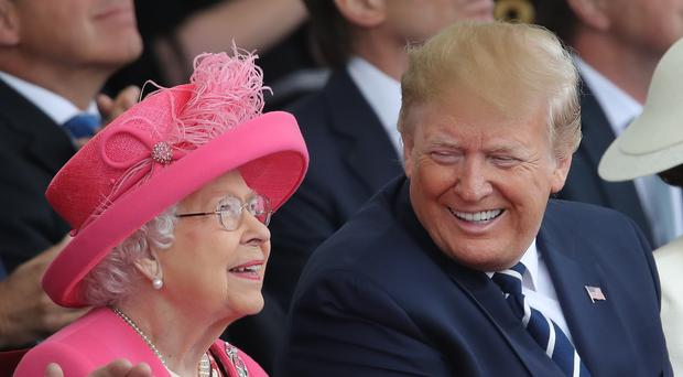 The Queen and US President Donald Trump (Andrew Matthews/PA)