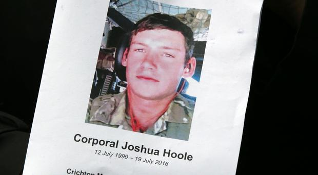 Corporal Joshua Hoole died after collapsing during an Army fitness test in very hot weather (Andrew Milligan/PA)