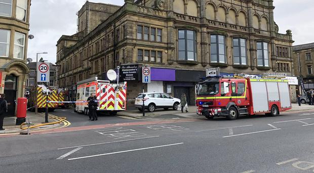 Fire services outside the club (Thomas Beresford/Twitter/PA)