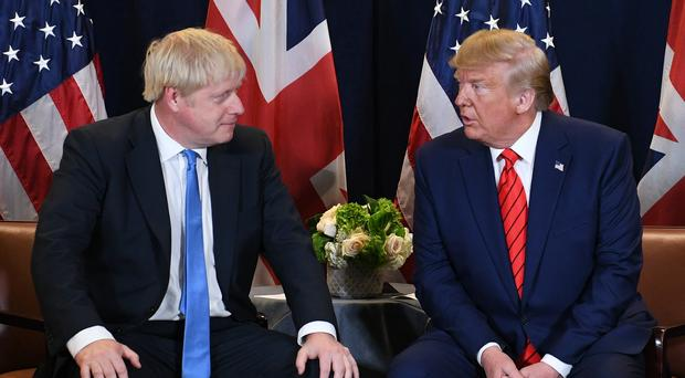 Prime Minister Boris Johnson has spoken to Donald Trump about the Harry Dunn case via telephone (Stefan Rousseau/PA)