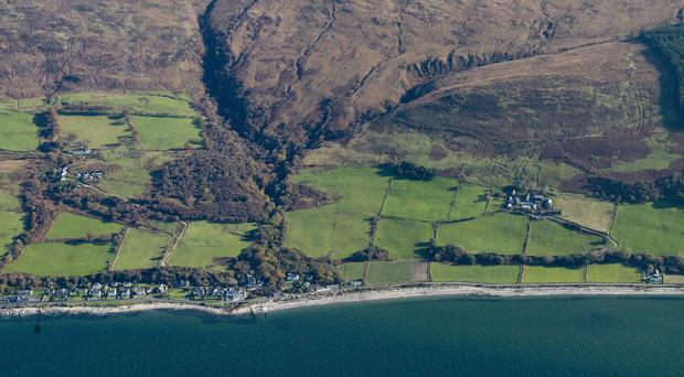 Aerial view of Arran taken by the Historic Environment Scotland project team (HES/PA)