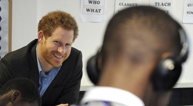 Prince Harry on a previous visit to Nottingham Academy (Rui Vieira/PA)