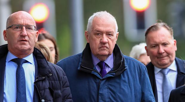 Hillsborough match commander David Duckenfield, who is accused of the manslaughter by gross negligence of 95 Liverpool supporters at the 1989 FA Cup semi-final, arriving at Preston Crown Court (Peter Byrne/PA)