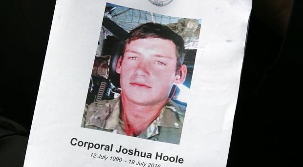Corporal Joshua Hoole died after collapsing during an Army fitness test in hot weather (Andrew Milligan/PA)