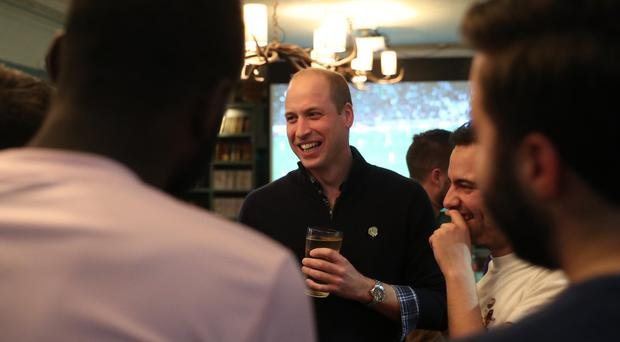 The Duke of Cambridge discusses mental health with football fans (Chris Jackson/PA)