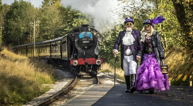 A Steampunk festival is taking place in Haworth, West Yorkshire (Danny Lawson/PA)