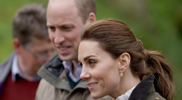 The Duke and Duchess of Cambridge (Owen Humphreys/PA)